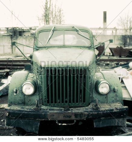 Old Truck In Dump