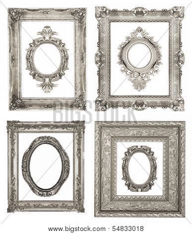 Set of ornamental silver frames