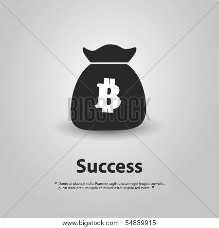 Success - Vector Illustration of Bitcoin Design