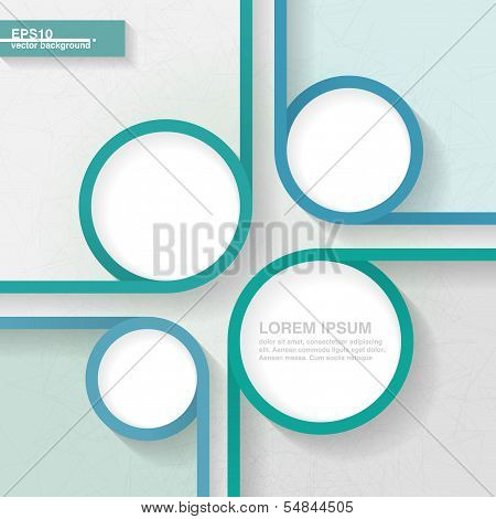 Abstract Business Minimalistic Template For Infographics With Four Quarters. Eps10