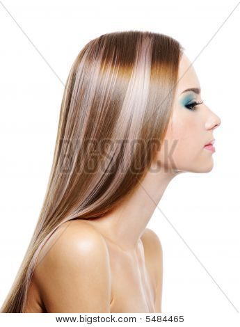 Female With Long Health Beautiful Hair