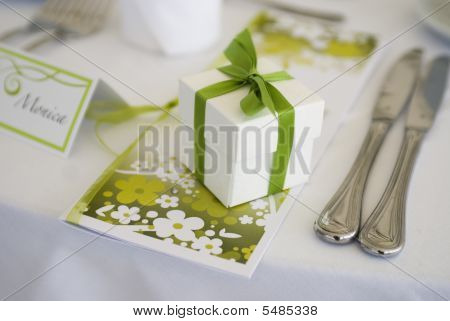Decorated Table With Present