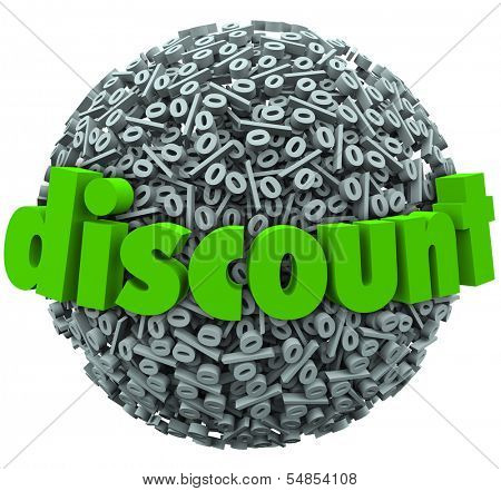 Discount Word Percent Sign Symbol Sphere