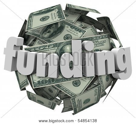 Funding Word Money Dollar Sphere Ball