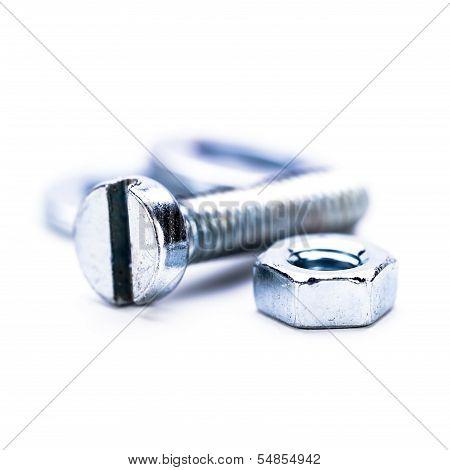 Silver Steel Hexagonal Screw Tool Objects Macro