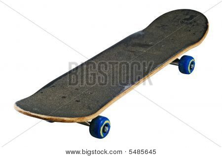 Skateboard Isolated With Clipping Path