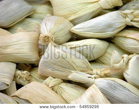 Candy corn tamales