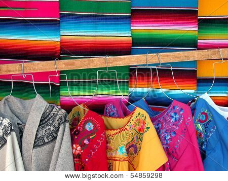 Mexican woven sarapes
