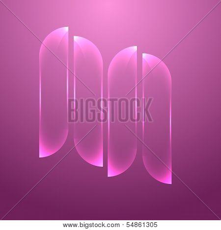 Design Pink Glass Banners Set