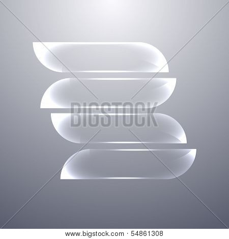 Design Gray Glass Banners Set