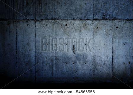 Dark grungy concrete wall.