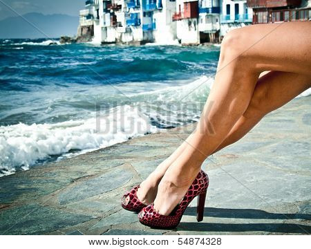 Sexy Summer Legs By The Sea