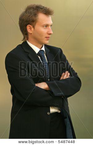 Businessman Looking Away