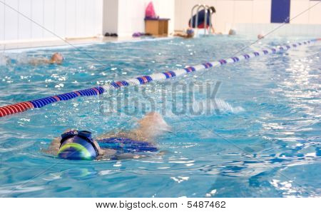 Training In Swimming Pool