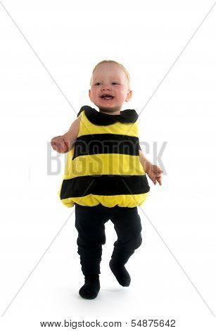 Baby Boy In Bumblebee Costume