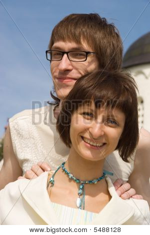 Boy And Girl At A Church
