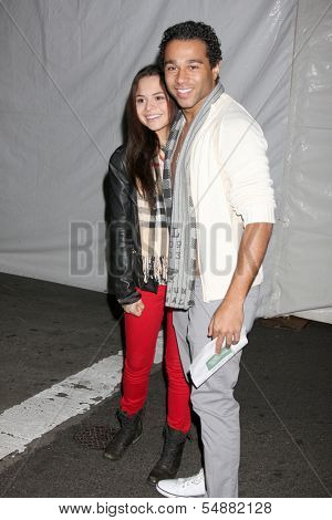 LOS ANGELES - DEC 1:  Sasha Clements, Corbin Bleu at the 2013 Hollywood Christmas Parade at Hollywood & Highland on December 1, 2013 in Los Angeles, CA