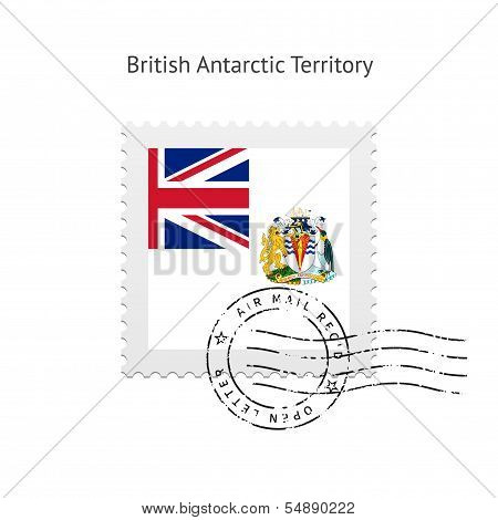 British Antarctic Territory Flag Postage Stamp.