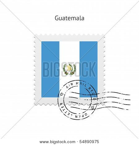 Guatemala Flag Postage Stamp.