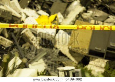 Ruins Of Building After Tragedy