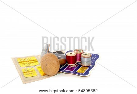 Assortment Of Sewing Needles And Darning Tools