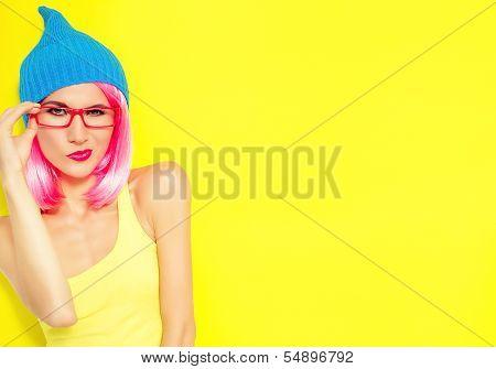 bright funny girl