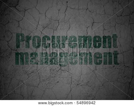 Business concept: Procurement Management on grunge wall