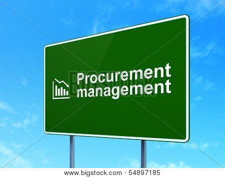 Finance concept: Procurement Management and Decline Graph