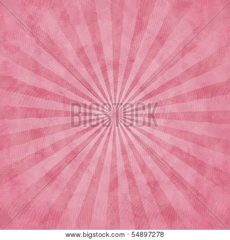 Pink Watercolor Background With Rays
