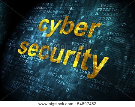 Safety concept: Cyber Security on digital background