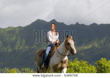 Woman Horse Riding
