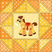 foto of burro  - Application horse seamless - JPG