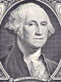 stock photo of revolutionary war  - George Washington on 1 Dollar 2006 Banknote from USA - JPG