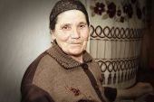Elderly Woman At Work