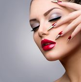 pic of long nails  - Fashion Beauty Model Girl - JPG