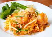 stock photo of egg noodles  - Thai food stir - JPG