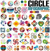 image of origami  - Huge modern circle infographic design template set - JPG