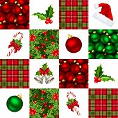 Christmas seamless background. Vector illustration.
