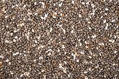 image of salvia  - Background of mixed chia seeds salvia hispanica - JPG
