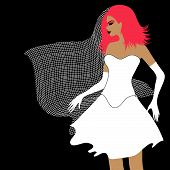 stock photo of hymen  - Vector illustration of EMO bride  - JPG