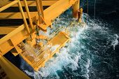 stock photo of offshoring  - Oil and gas platform in the gulf or the sea - JPG