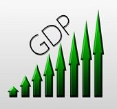stock photo of macroeconomics  - Chart illustrating Gross Domestic Product growth macroeconomic indicator concept - JPG