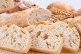 picture of fresh slice bread  - fresh tasty mixed bread slice bakery loaf objects food - JPG