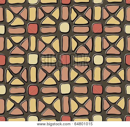 Tile Mosaic Yellow Red