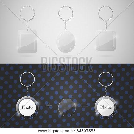 Glass Keychains