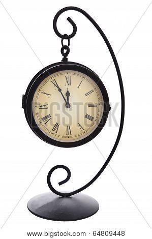 Mantel Clock Isolated On White Background