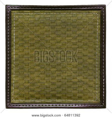 khaki wicker frame isolated
