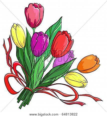 Flower, tulips, bouquet
