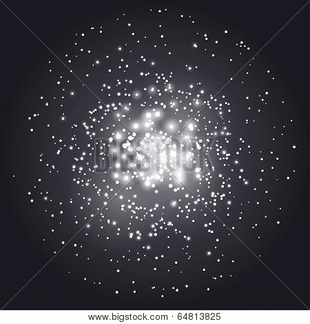 Transparent Abstract Constellation Background