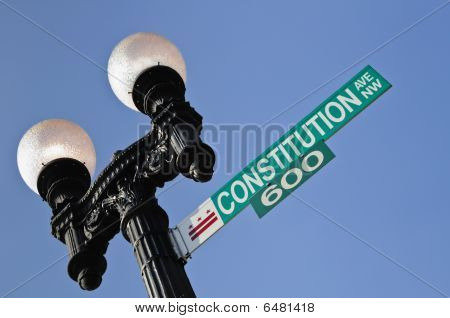 Constitution Avenue Sign